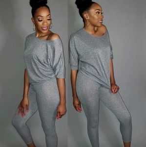Heather grey lounge fit